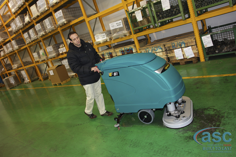 ASC Eureka E81 scrubber with  man 3