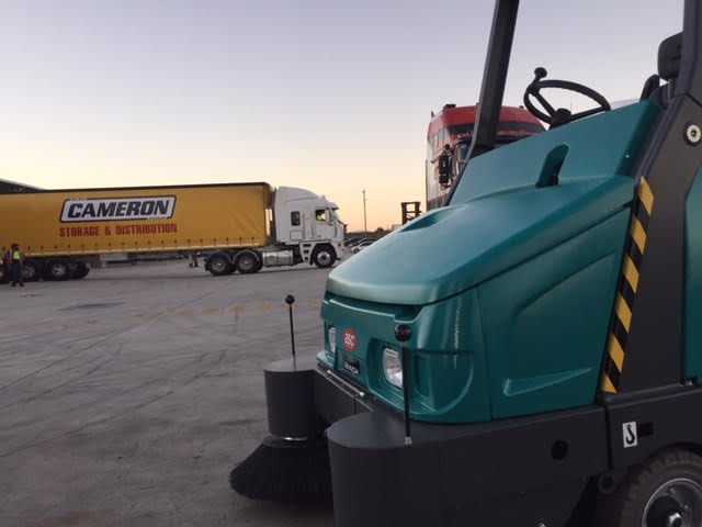 ASC Eureka M6 Heavy Duty Sweeper At Cameron Interstate's Site