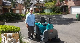 Gary Young With ASC Eureka M3 Ride-on Sweeper