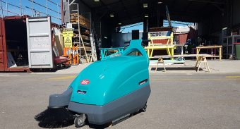 Hutchinson Builders Buys Another ASC M1 Sweeper for Their Brisbane Location