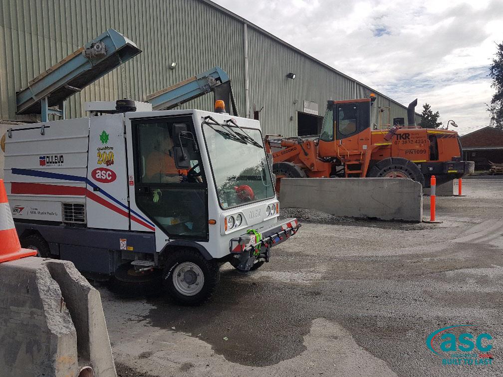 ASC Dulevo Street Sweeper At O-I Australia's Facility