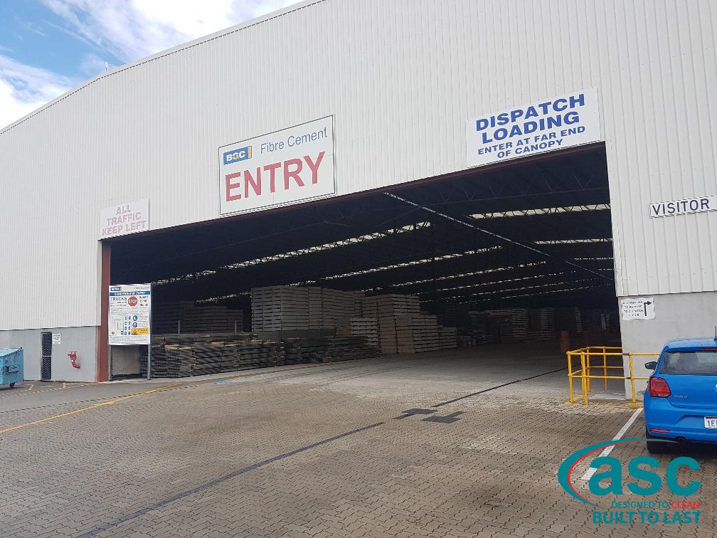 BGC's Huge Warehouse Facility Entrance