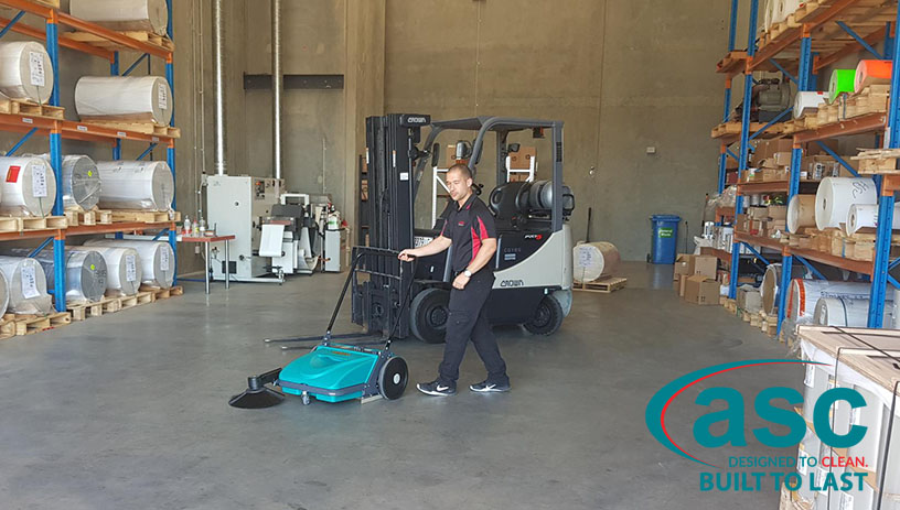 ASC Eureka MEP Sweeper At Ulta Label's Warehouse 7