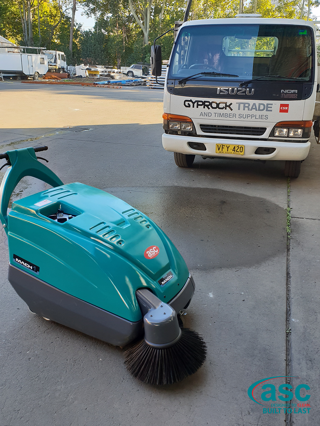 ASC M1 Sweeper At CSR Gyprock's Facility