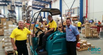 Furnware Dorset Trust ASC Eureka M5 Sweeper to Keep Their Warehouse Clean