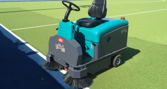 ASC Sweeper Assists West Devonport Hockey Club (TS) in Keeping it's Pitch Maintained