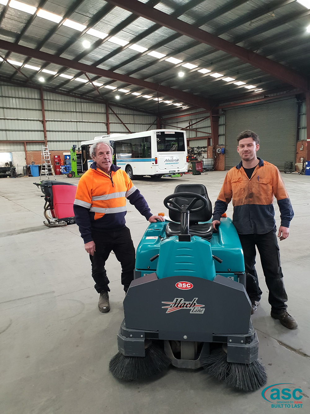 ASC Eureka M3 Sweeper At Nuline Charter's Facility