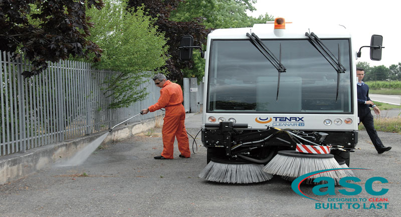 ASC Clean Air Sweeper with man 3