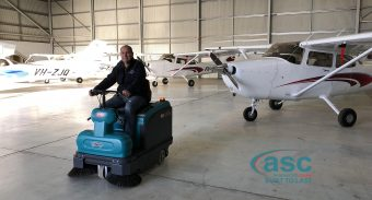 Aviation Hangar at Mildura Airport Receives ASC M2 to Clean Their Hangar in Hard Weather