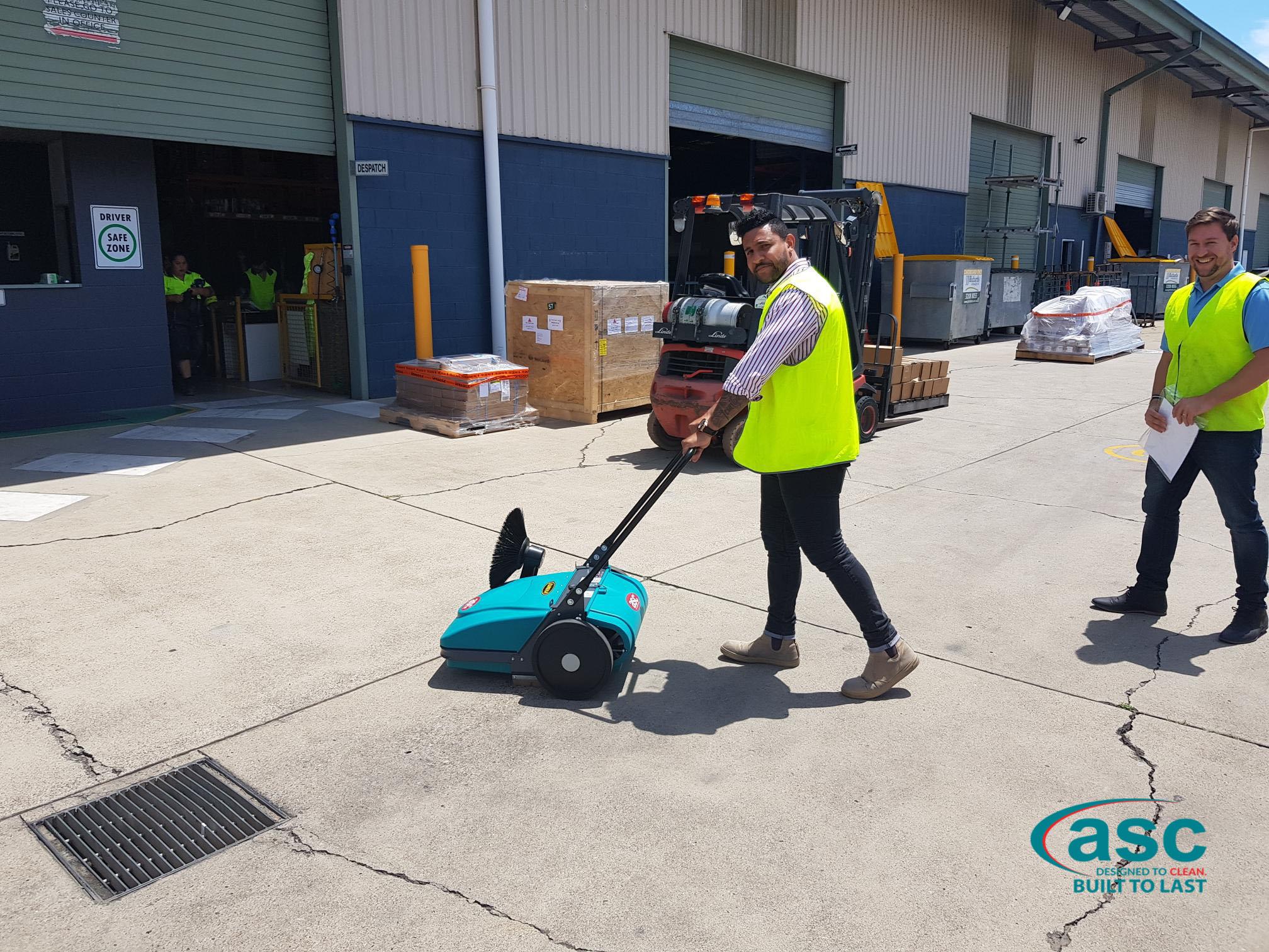 ASC MEP Push Sweeper At Kilgaro's Distribution Center 2