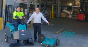 ASC Eureka M3 Sweeper At Harvey Norman's Distribution Center