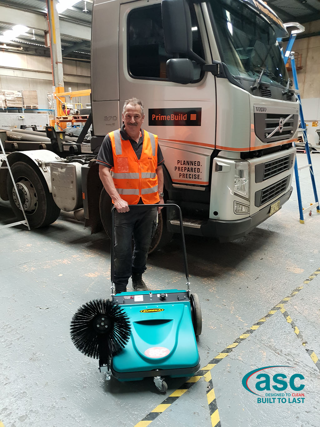 ASC MEP Push Sweeper At Prime Build Construction Supplies
