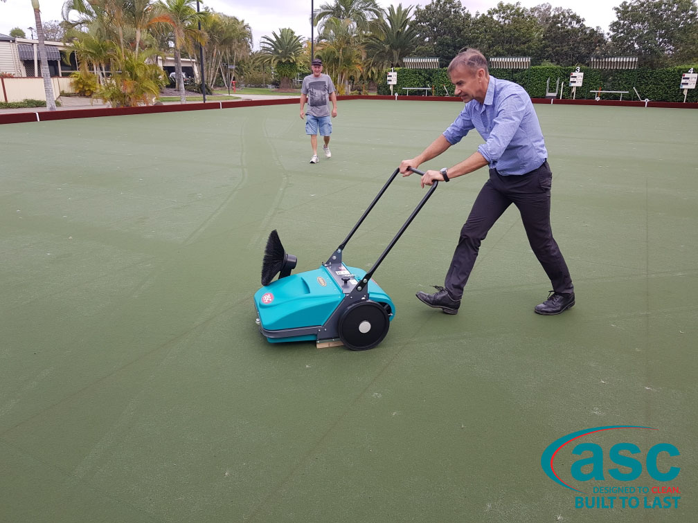 Home Park Management Services Using ASC MEP Sweeper 3