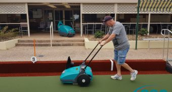 Retirees Love ASC MEP to Clean Their Lawn Bowl Court's Synthetic Turf