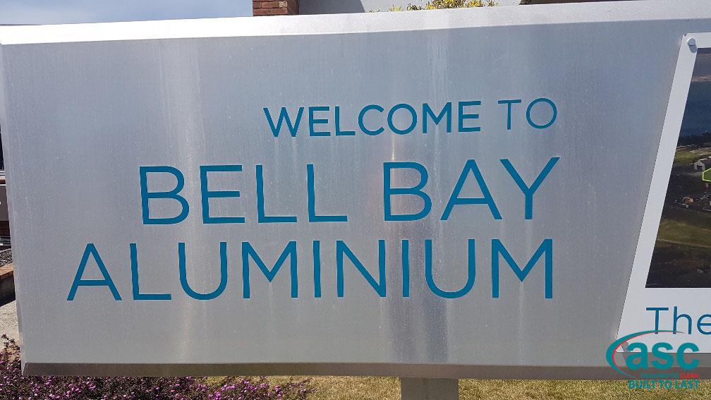 Bell Bay Aluminium Welcome Sign