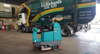 ASC Machines Will Keep the Oil & Dust Off The Floors For J.J. Richards & Sons