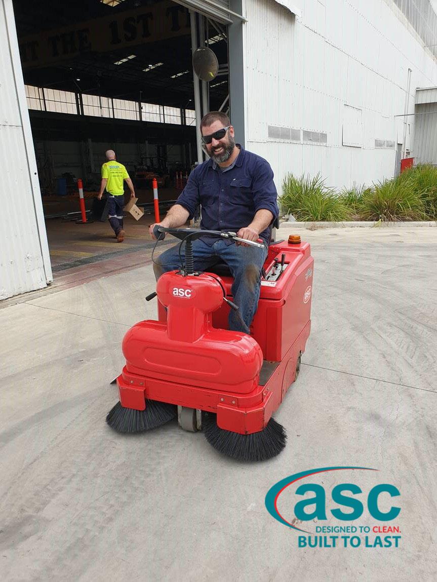 Ex-Fleet ASC Rider Sweeper At Unitised Building