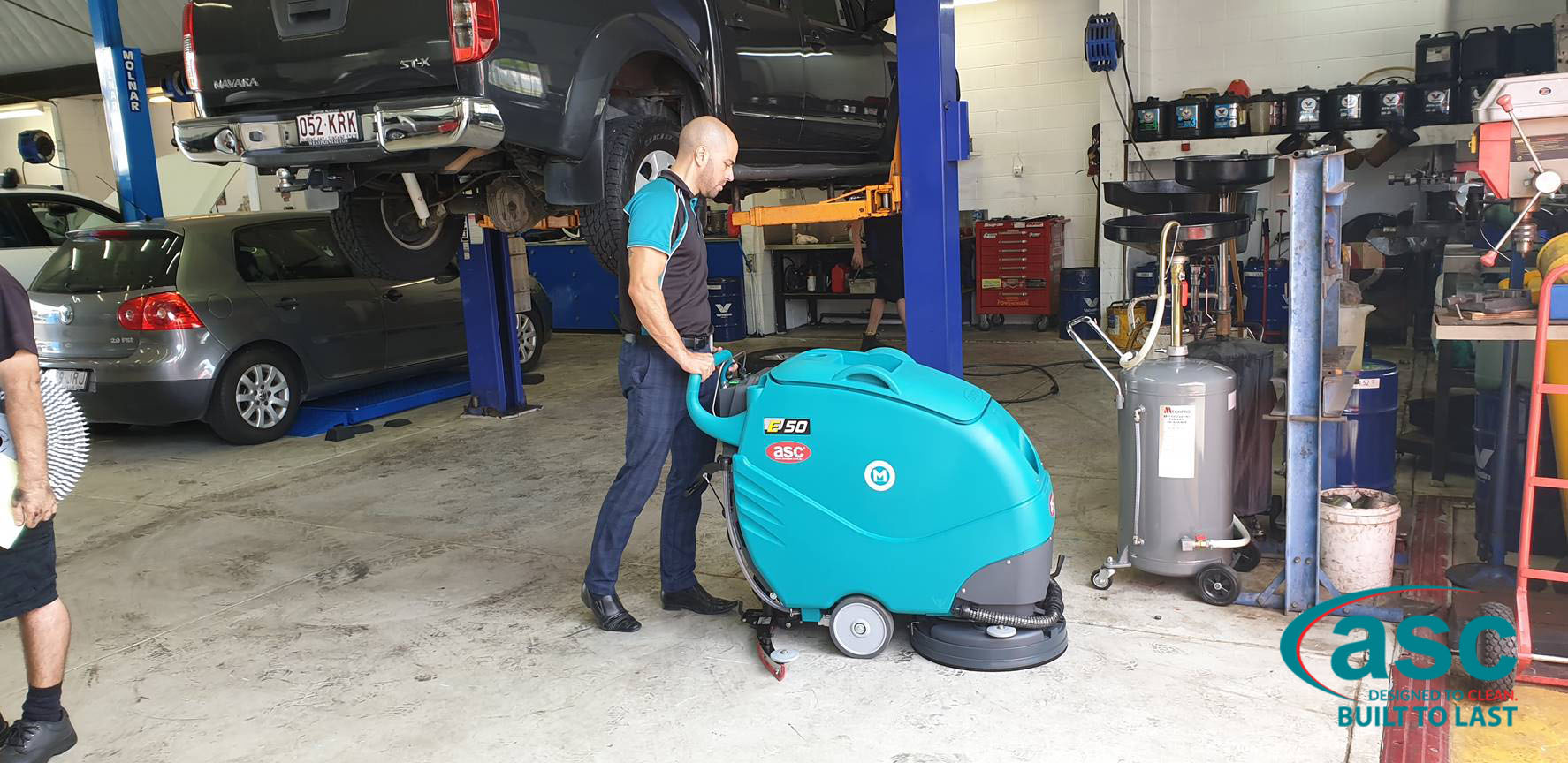 ASC Eureka E 50 Scrubber At SuperCool's Warehouse 2