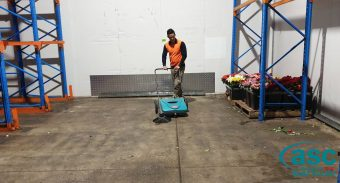ASC MEP push sweeper helps The Lynch Group maintain their ISO & HACCP Quality Standard accreditation