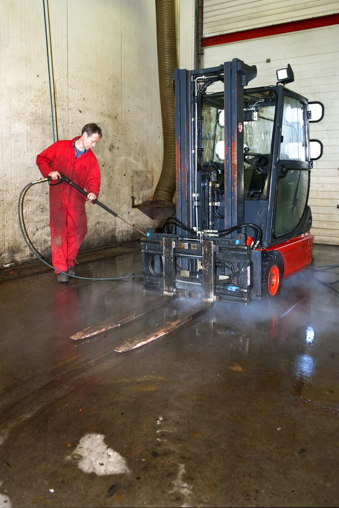 Industrial Cleaning With Hose