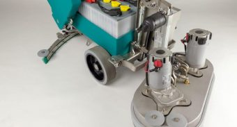 Commercial Scrubber Machine Inside