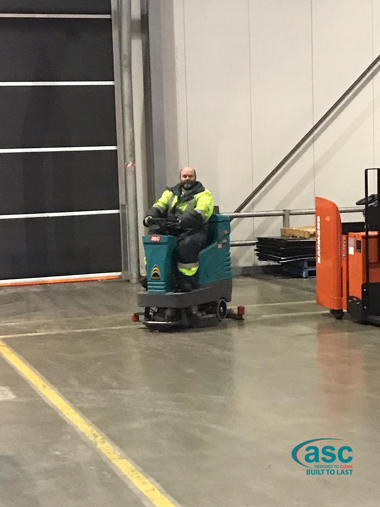 ASC Eureka E 83 Rider Scrubber At AHG's Facility 1