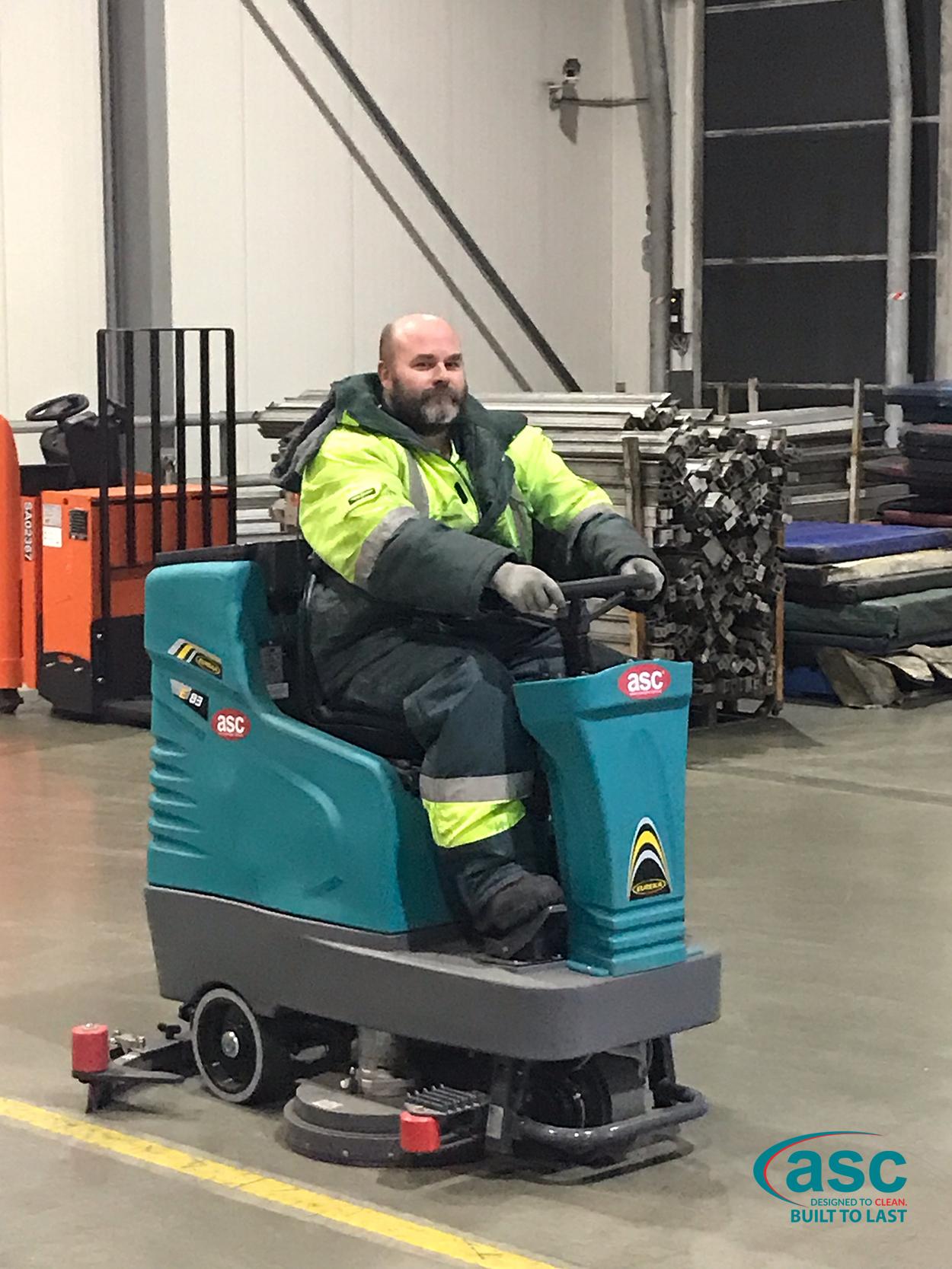ASC Eureka E 83 Rider Scrubber At AHG's Facility 2