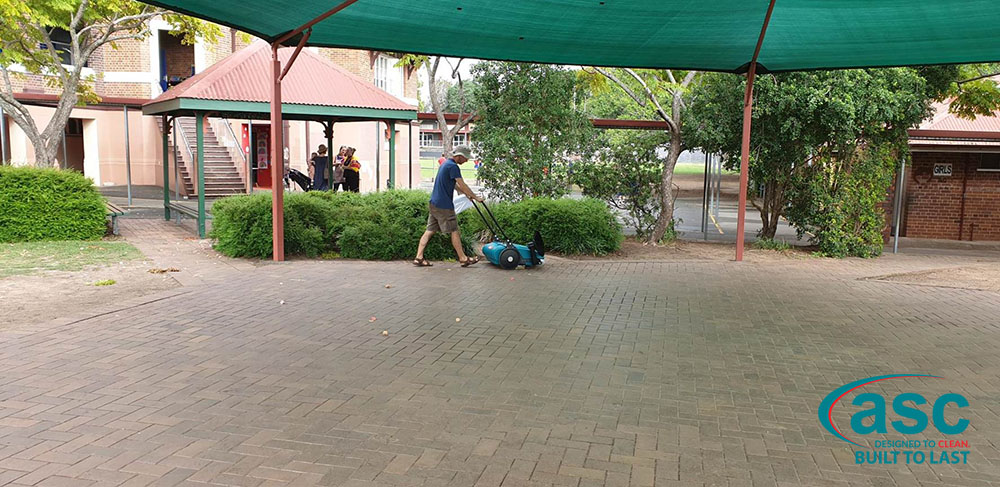 ASC MEP Push Sweeper At Junction Park State School 1