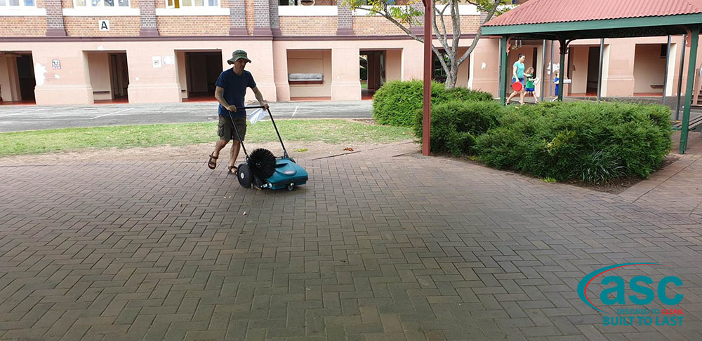 ASC MEP Push Sweeper At Junction Park State School 2