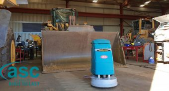 ASC Floor Scrubber Cleans Heavy Duty In SMH Equipment's Facility