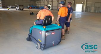 Murwillumbah Dowling Metal Products takes delivery of a ASC M3 sweeper