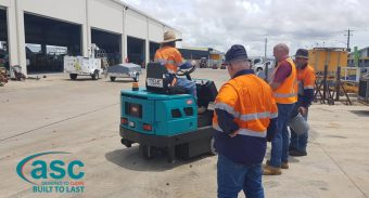 Magnetic Island takes delivery of a ASC M6 Diesel sweeper
