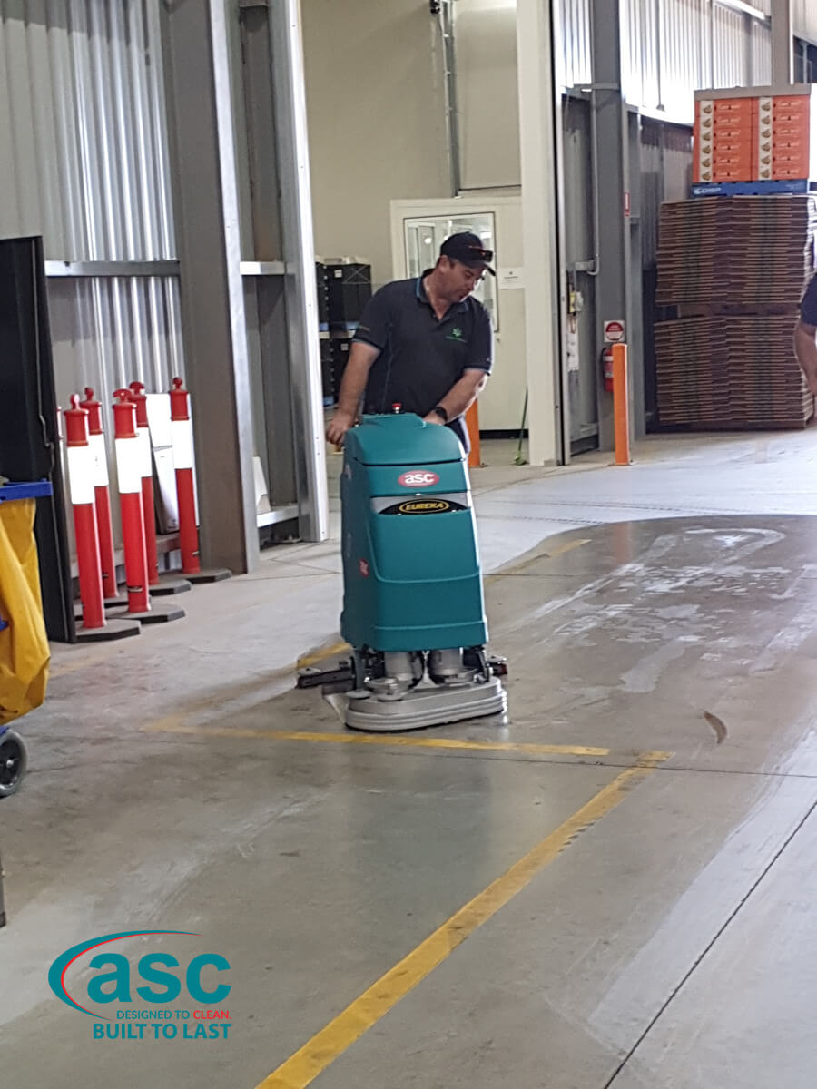 ASC E 61 Floor Scrubber At Lagacy Packaging's Facility 1