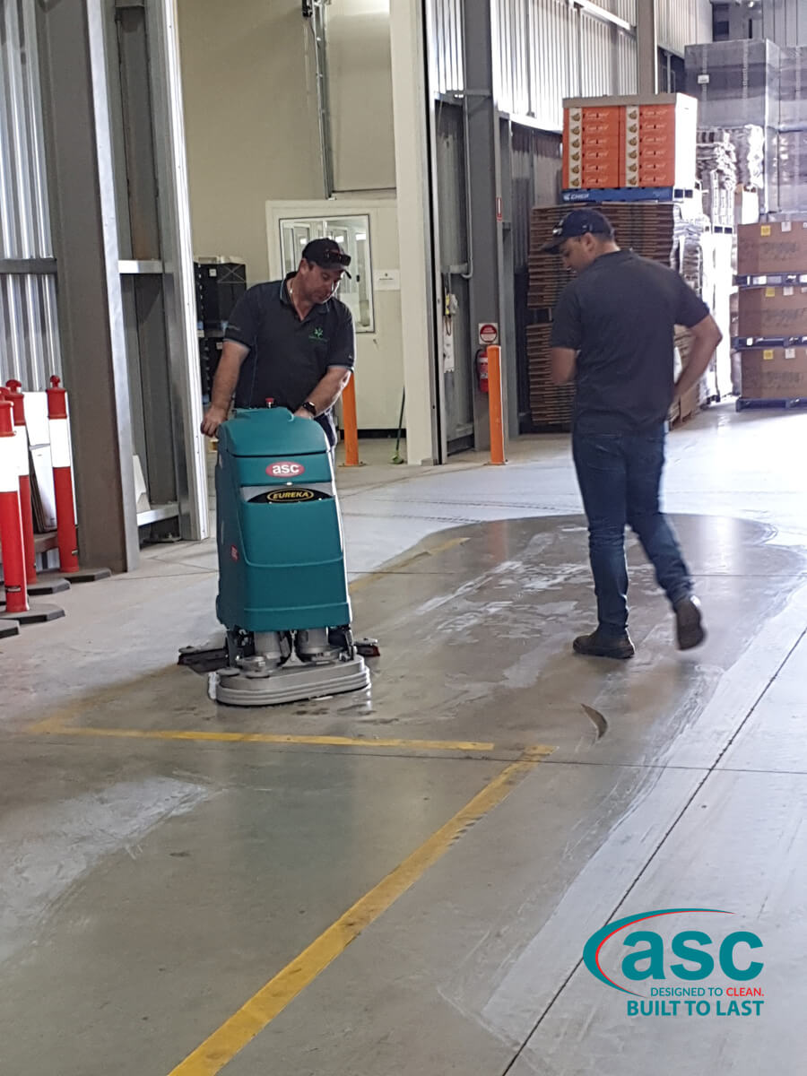 ASC E 61 Floor Scrubber At Lagacy Packaging's Facility 2