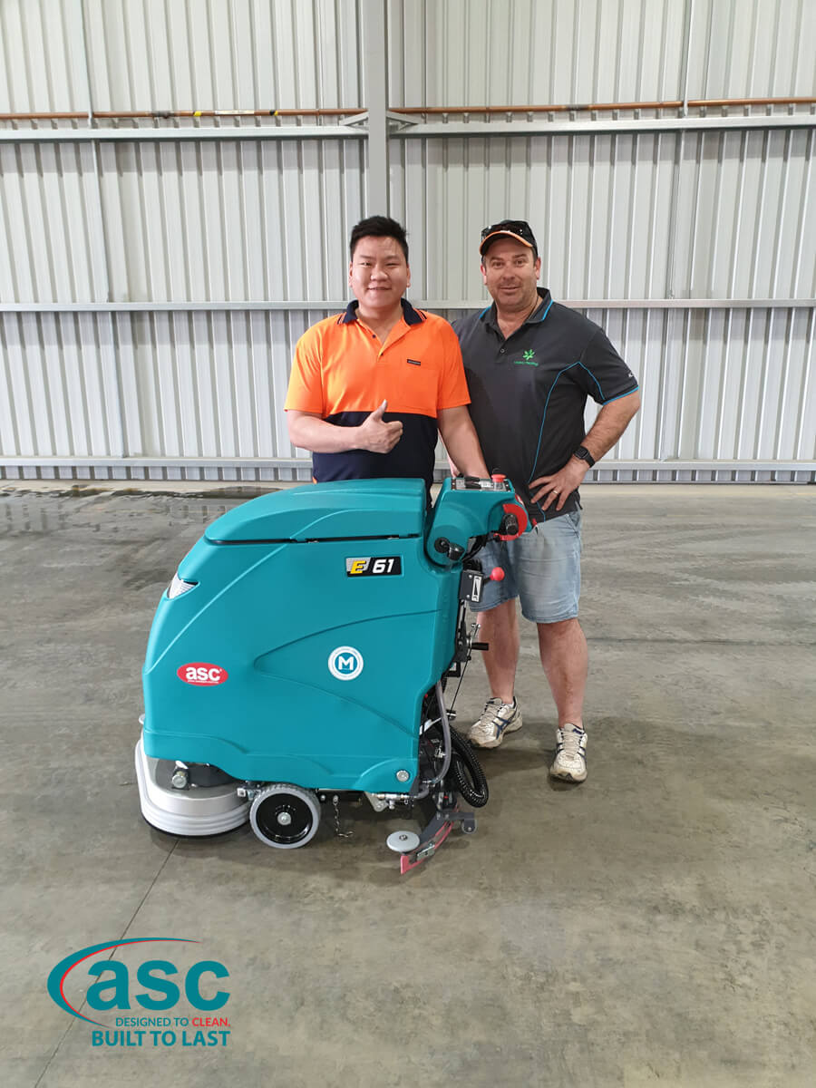 ASC E 61 Floor Scrubber At Lagacy Packaging's Facility 4