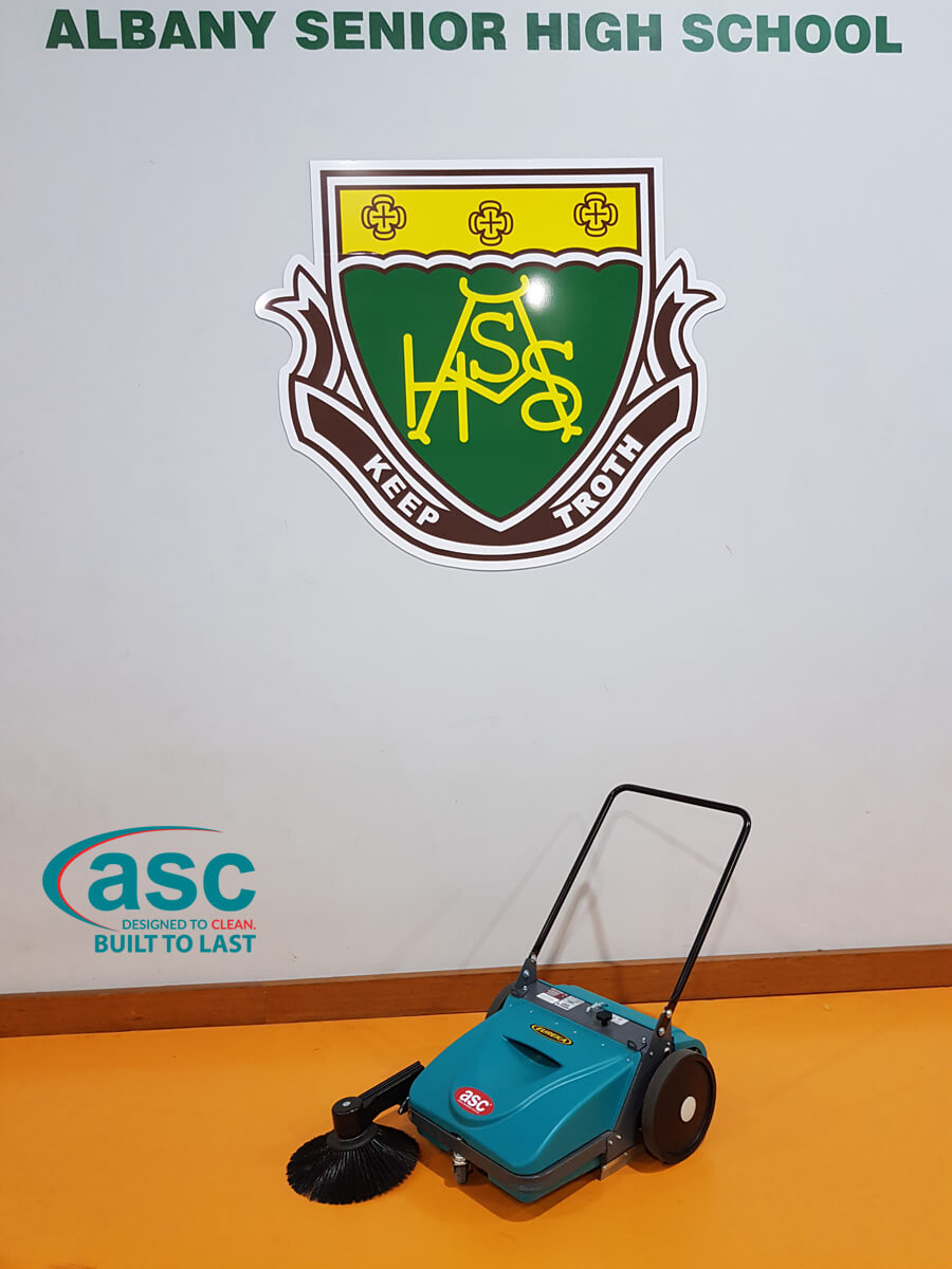 ASC MEP Push Sweeper At Albany High-School