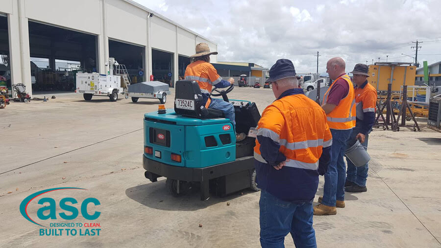 Construction Site Cleaning With ASC Sweeper