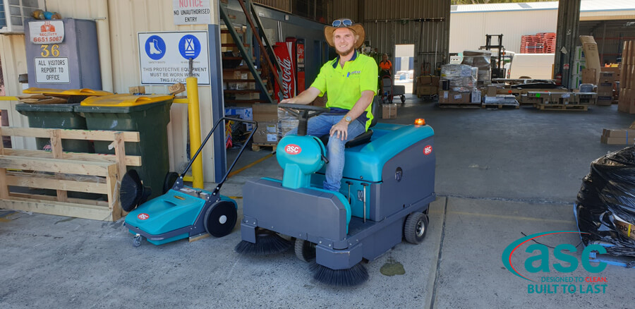 ASC MEP Dust Free Push Sweeper & Ex Fleet Battery Electric M3 Rider Sweeper 2