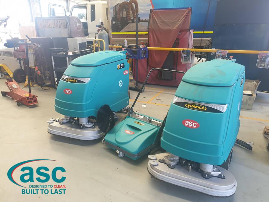 ASC Eureka E81 Floor Scrubber & ASC MEP Push Sweeper