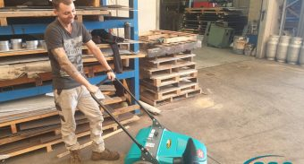 ASC MEP Push Sweeper Keeps Kanyana Engineering Mandurah's New Workshop Clean