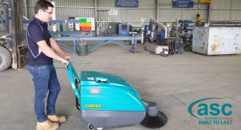 Action steel Stawell (Vic) Is Extremely Happy with ASC M1 Sweeper Performance. Here Is How