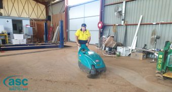 Taylor Made Homes in Dubbo recently invested in 2 ASC M1 heavy duty sweepers