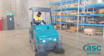 Bridgestone (WA) invests in a Heavy Duty ASC M6 sweeper