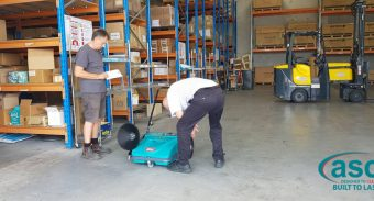 Electro Parts Australia (based in Parkinson, Brisbane) recently received an a ASC MEP Push sweeper