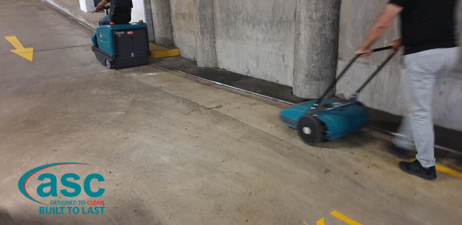 ASC M2 Battery Sweeper & ASC MEP Push Along Sweeper