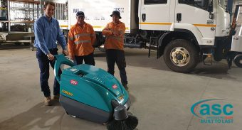 V/ Line Rail Maintenance Invests in an ASC Eureka M1 Heavy Duty Sweeper