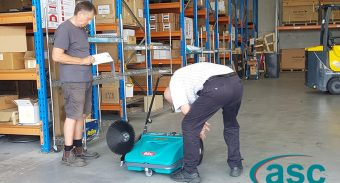 Electro Parts Replaces Its Old Push Sweeper with ASC MEP