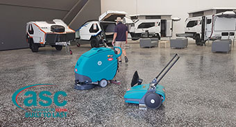 Queensland Based Kratzmann Caravans Buys an ASC Sweeper & ASC Scrubber