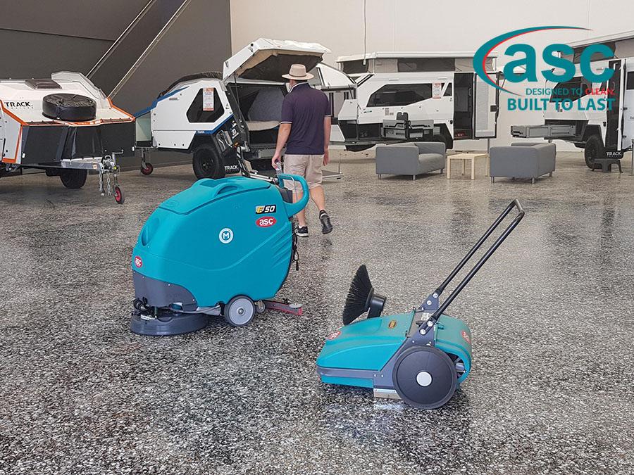 ASC MEP Push Sweeper & ASC E50 At Kratzmann Caravans