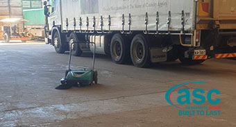 ASC MEP Sweeper Cleans Up Quickly with Minimal Maintenance